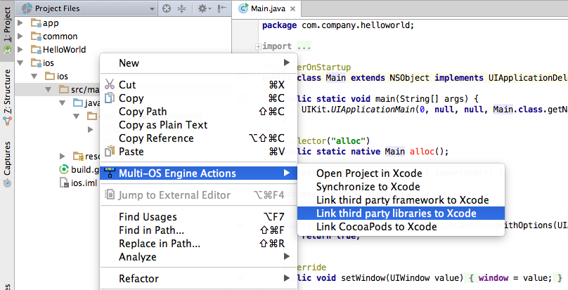 Linking Third-Party Libraries to Xcode Project — Multi-OS